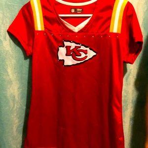 🐾Women's KC Chiefs jersey top